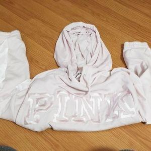 PINK sweatshirt with velour